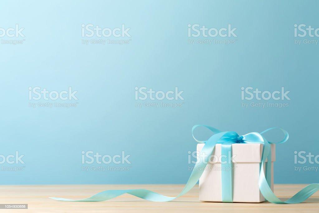 A gift box stock photo