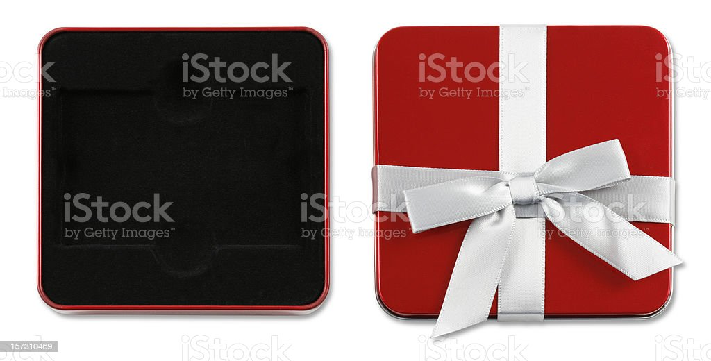 Gift Box (with clipping paths) royalty-free stock photo