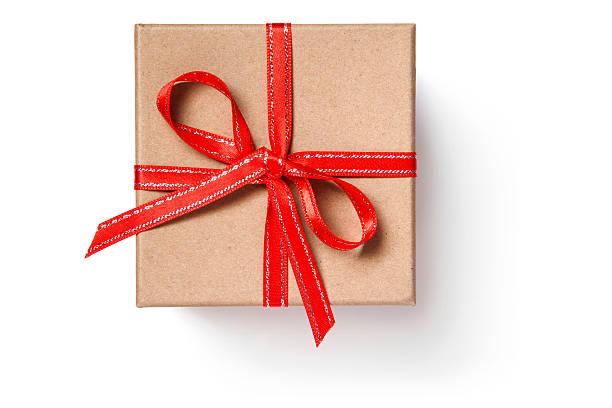 gift box - bandanzeige stock-fotos und bilder