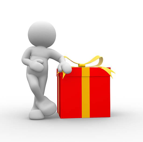 gift box - sprüche zum firmenjubiläum stock-fotos und bilder