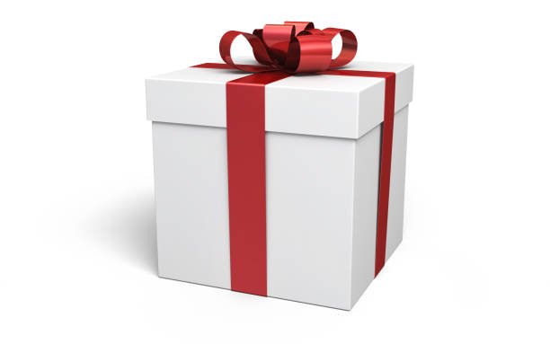 Gift Box 3d Render Gift Box red (isolated on white and clipping path) gift box stock pictures, royalty-free photos & images