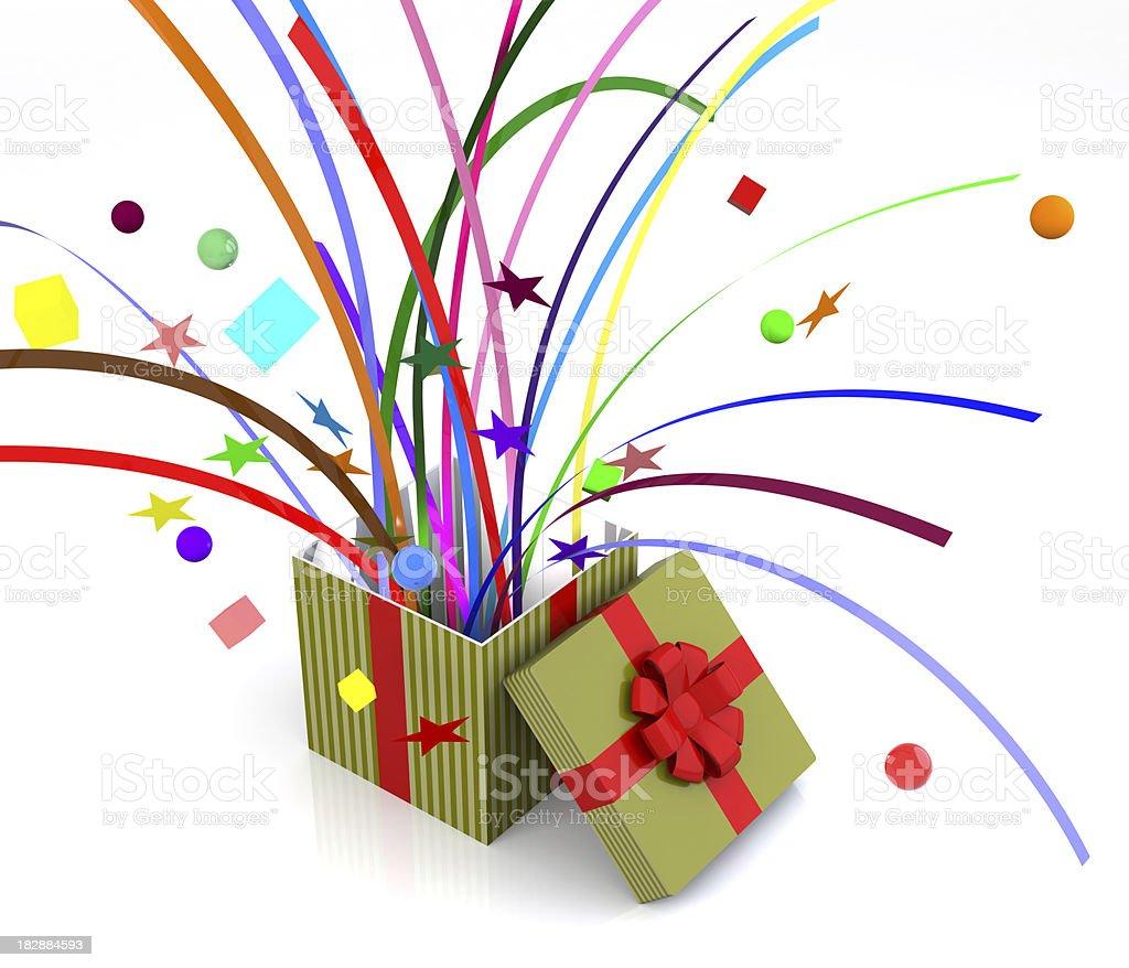 Gift Box Pops - Confetti royalty-free stock photo