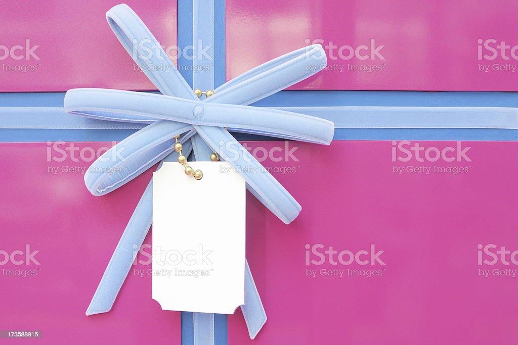 Gift Box Ribbon Bow Wrapping royalty-free stock photo
