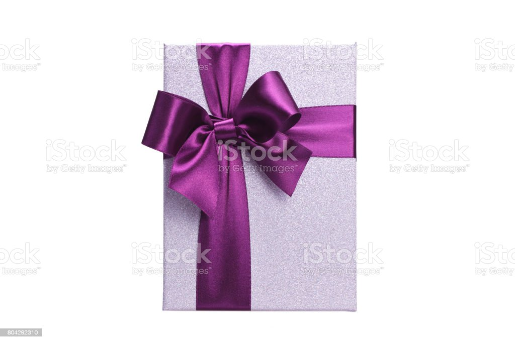 Gift box, top view stock photo