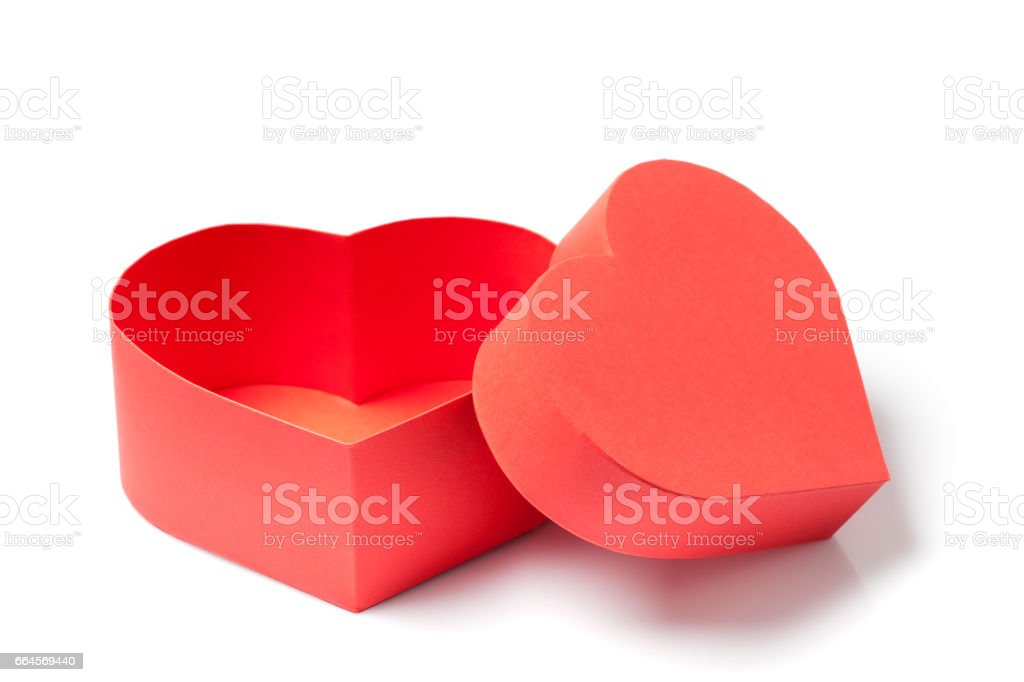 Gift Box With A Heart Shape stock photo