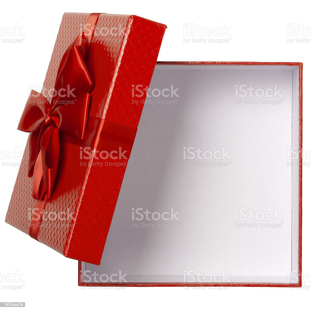 Gift Box With Clipping Path stock photo