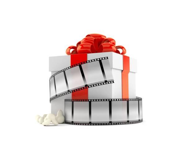 Geschenkbox mit Filmstreifen – Foto