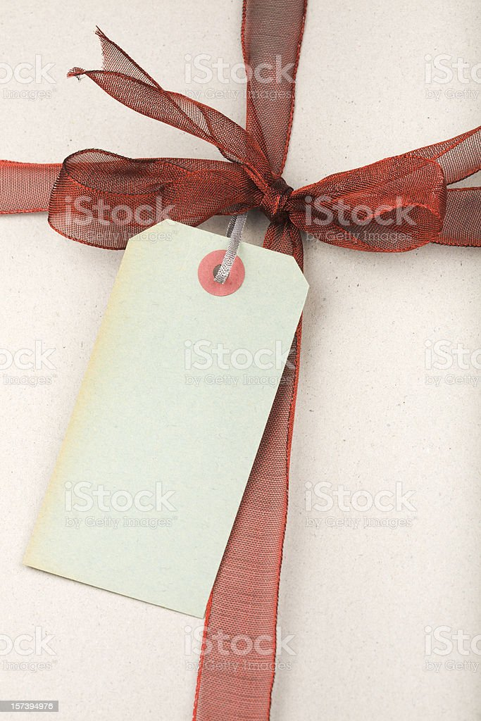 Gift Box  with label royalty-free stock photo