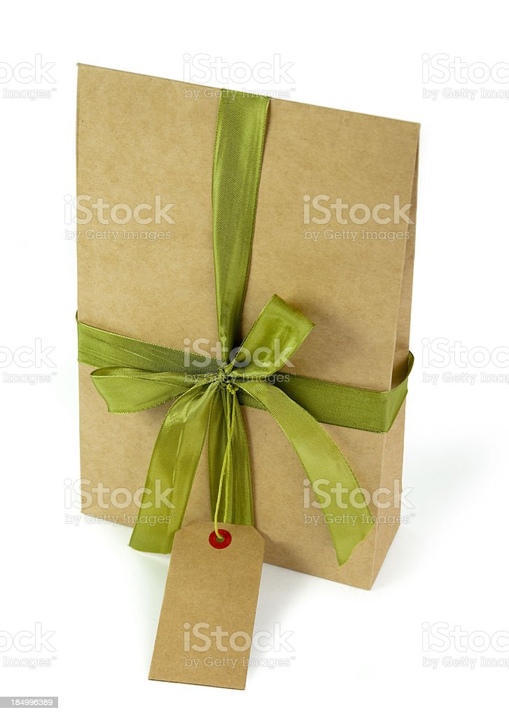 gift box with tag royalty-free stock photo