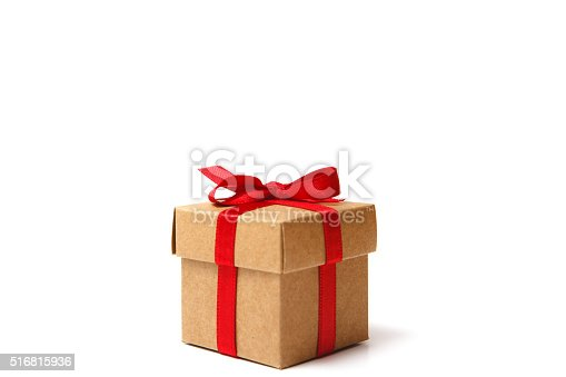 Gift box with white background.