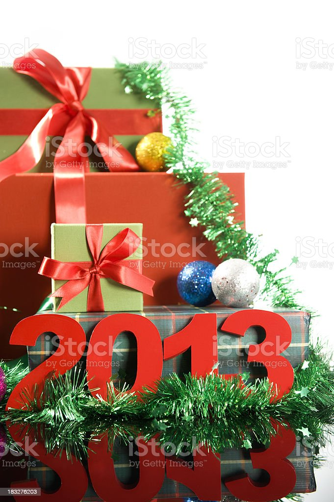 Gift Boxes and 2013 royalty-free stock photo