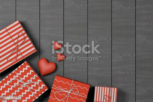 istock Gift Boxes and Greeting Card, Valentine's Day Concept 1088860124
