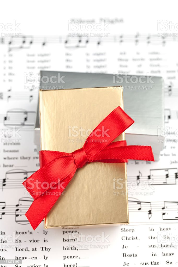 Gift Boxes and Music royalty-free stock photo