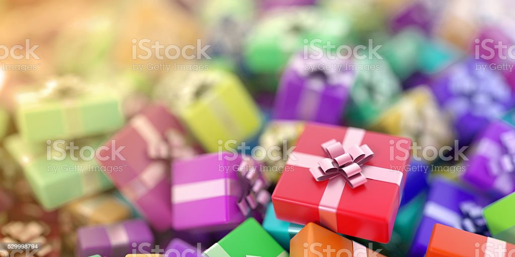 Gift boxes background stock photo
