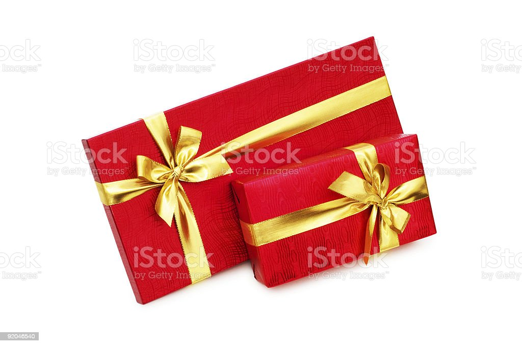 Gift boxes isolated on the white background royalty-free stock photo