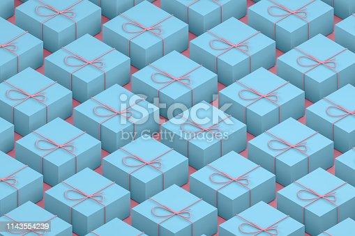 1073585628 istock photo Gift Boxes, Minimal 3d Design, Isometric View 1143554239