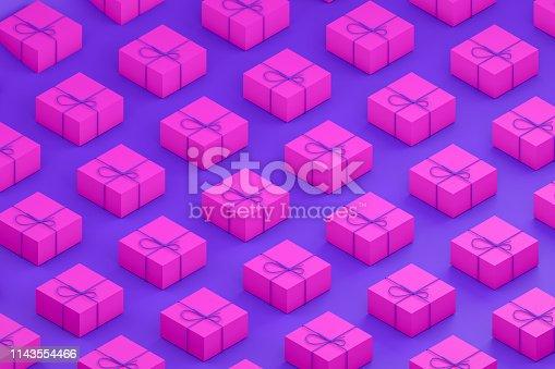1073585628 istock photo Gift Boxes, Minimal 3d Design, Isometric View 1143554466