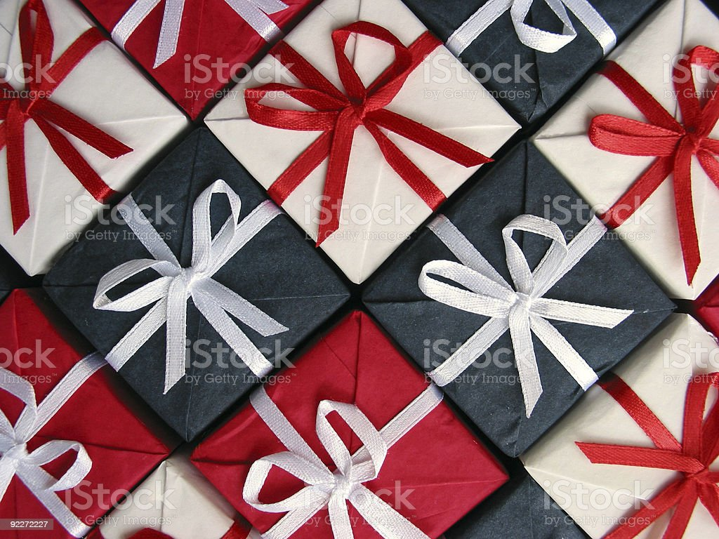 Gift boxes pattern royalty-free stock photo