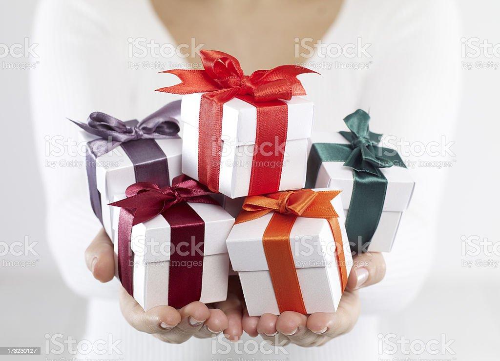 Gift Boxes royalty-free stock photo