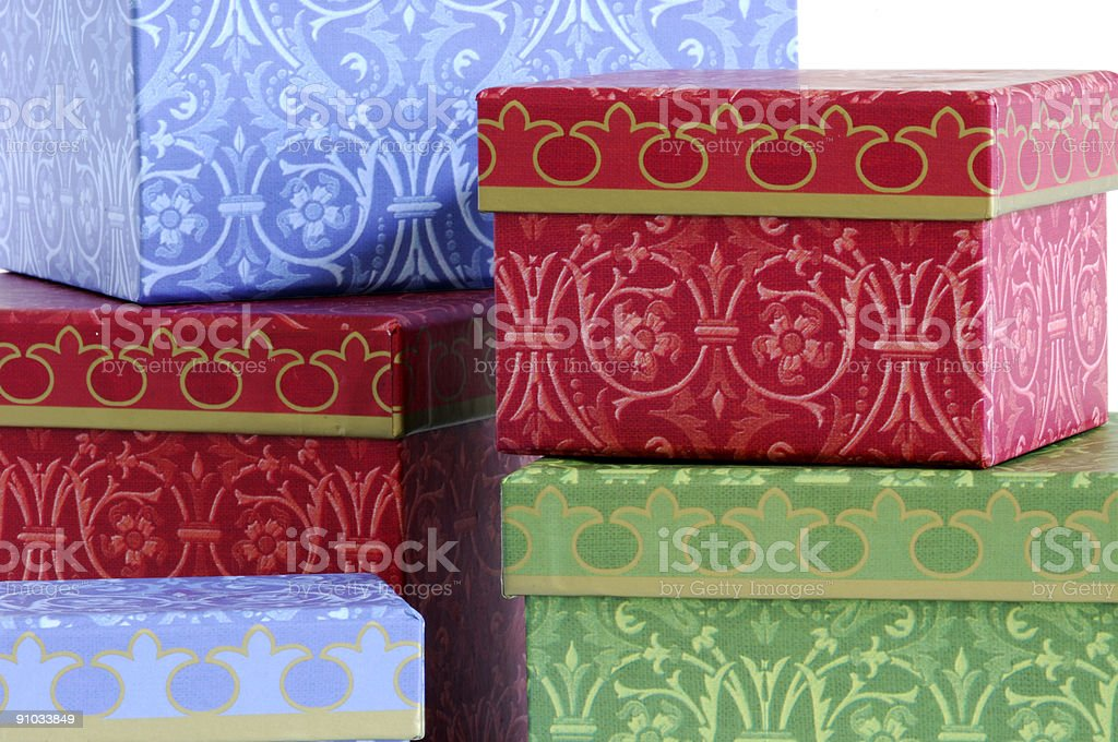 Gift boxes royalty-free stock photo