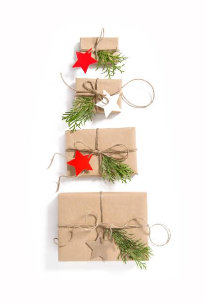 geschenk-boxen stern papier tags weihnachten advent - adventgeschichte stock-fotos und bilder