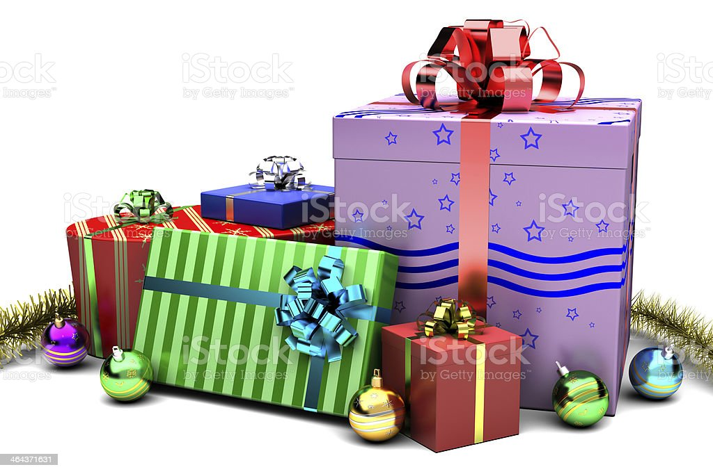 Gift Boxes to Christmas royalty-free stock photo