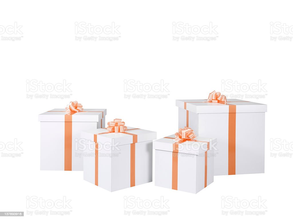 Gift Boxes+CLIPPING PATH royalty-free stock photo