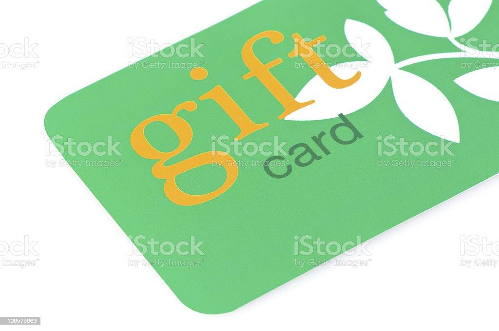 Gift Card Green stock photo