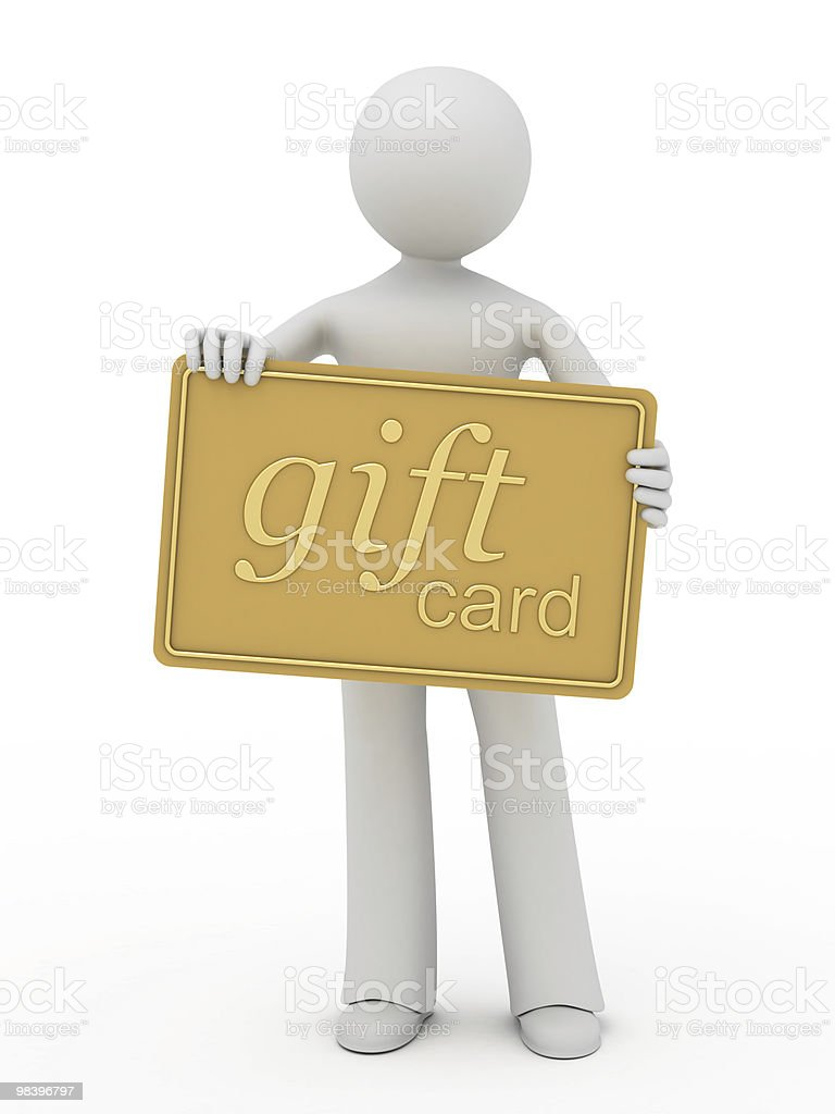 Gift card. royalty-free stock photo