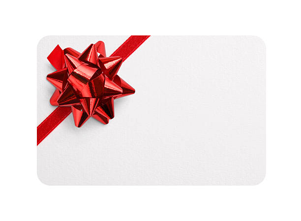 Royalty free gift card pictures images and stock photos istock gift card with red bow stock photo negle Images