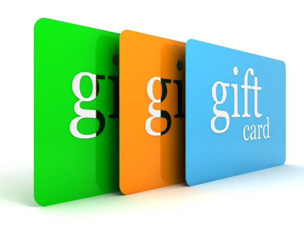 gift cards - gift tag note stock photos and pictures