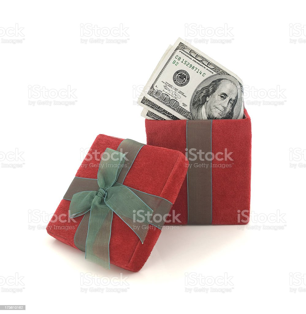 Gift Cash royalty-free stock photo