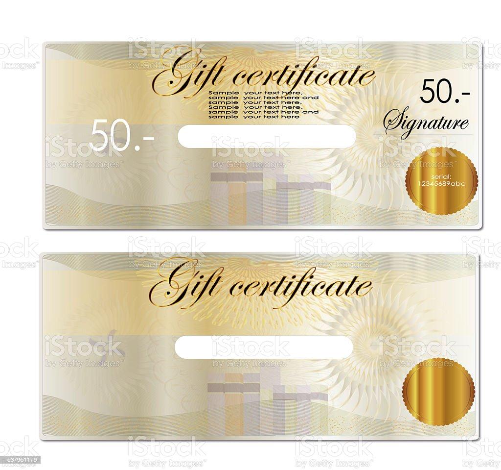 Gift Coupon Gift Voucher Bottom Blank To Fill In Any Program stock – Blank Voucher