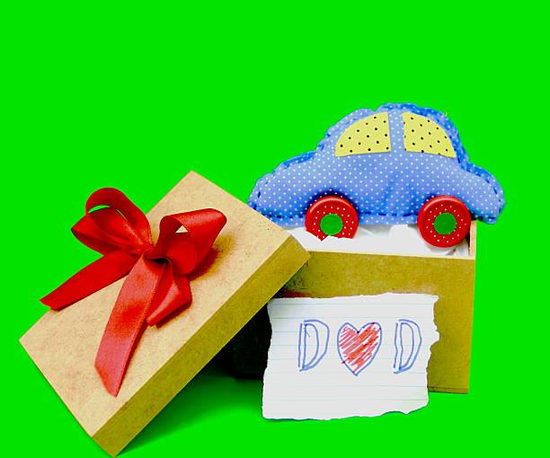 Gift. Father's Card Series. stock photo