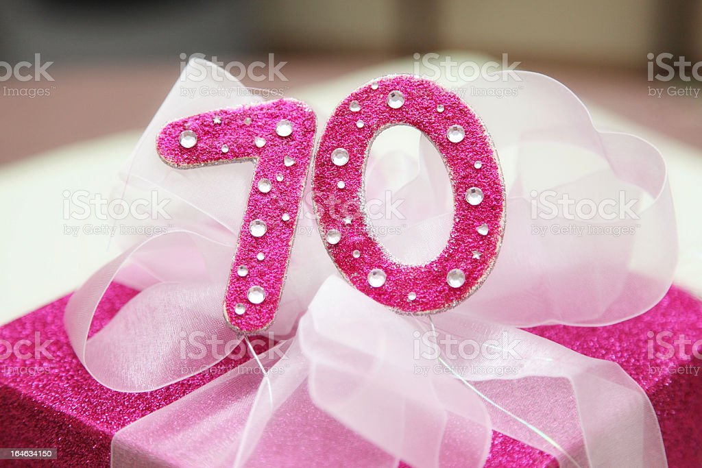 Gift for a 70th Birthday royalty-free stock photo