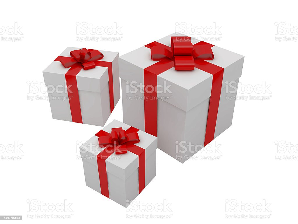 Gift for a holiday royalty-free stock photo