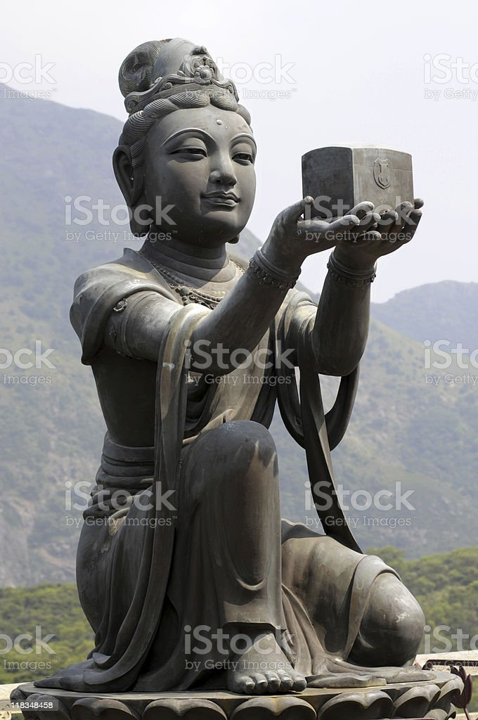 Gift for Buddha royalty-free stock photo