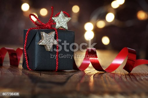 istock Gift for christmas eve 607736408