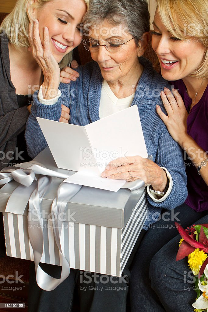 Gift for Grandma stock photo