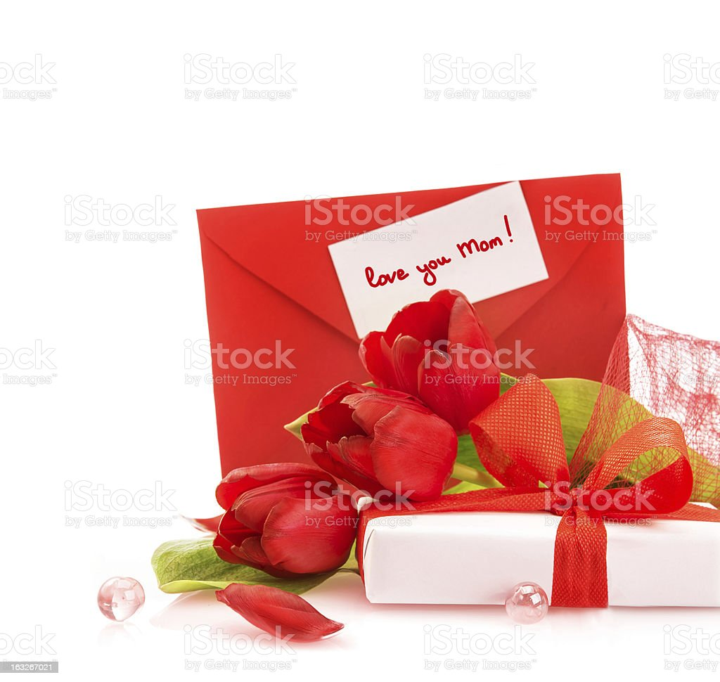 Gift for mothers day royalty-free stock photo