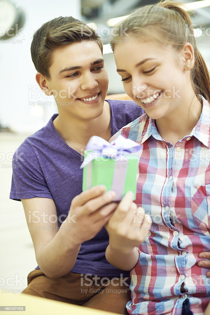 Gift for sweetheart royalty-free stock photo