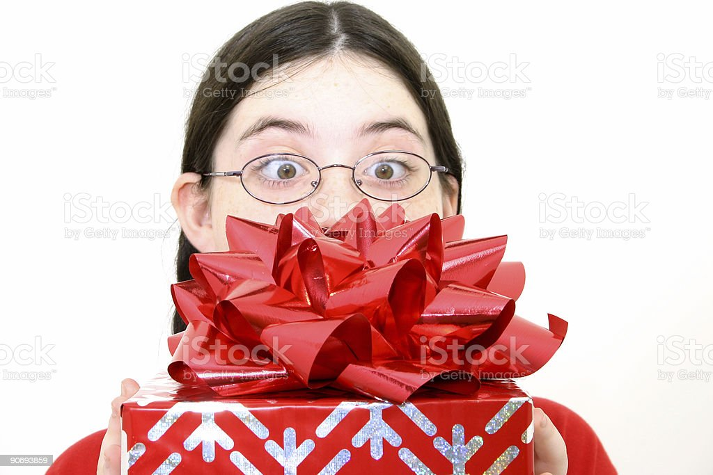 Gift Getting royalty-free stock photo