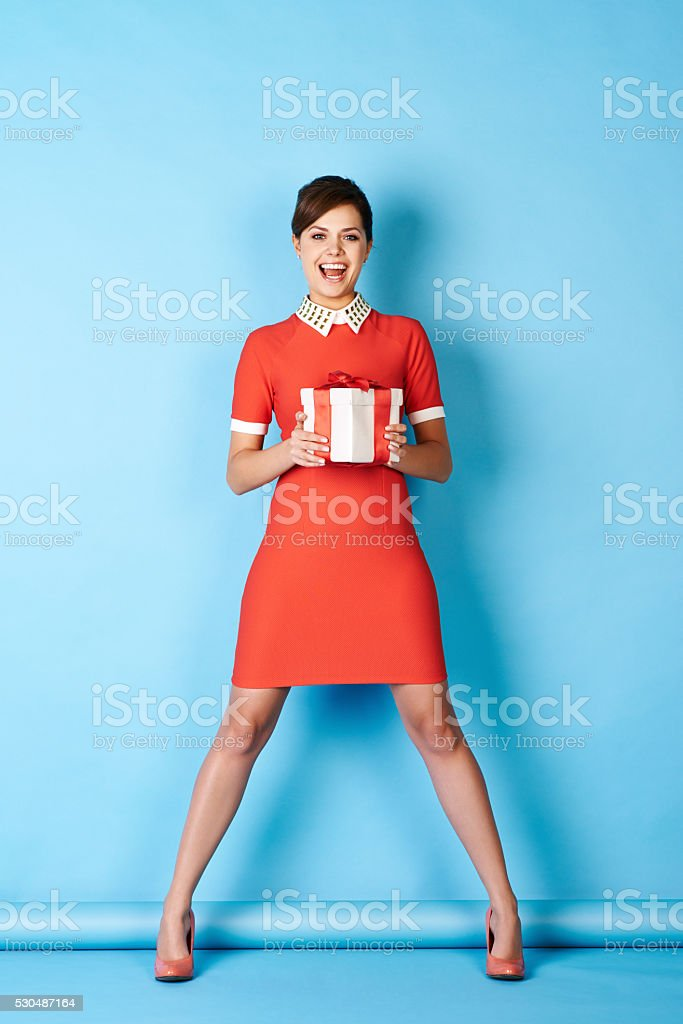 Gift girl stock photo
