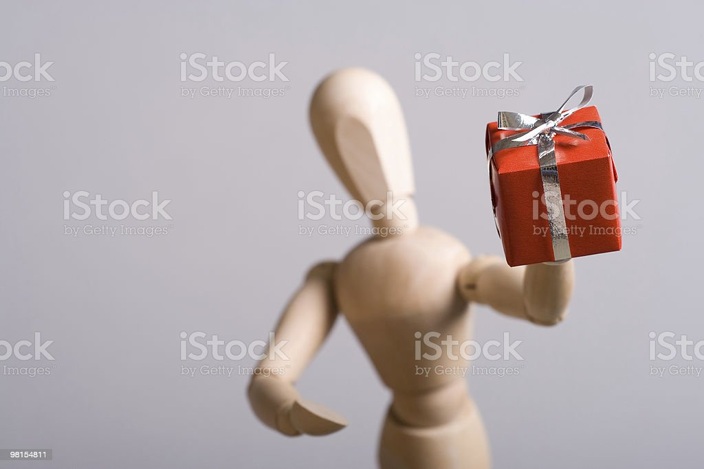 Gift giving royalty-free stock photo
