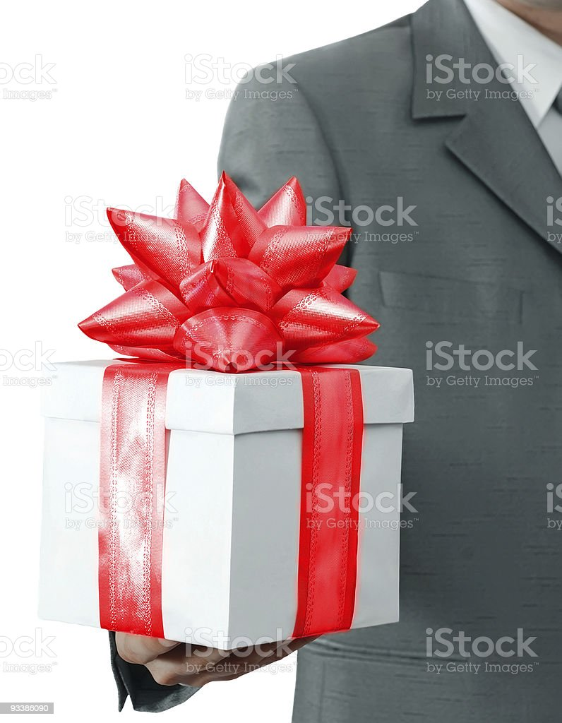 Gift In Hands Of The Businessman