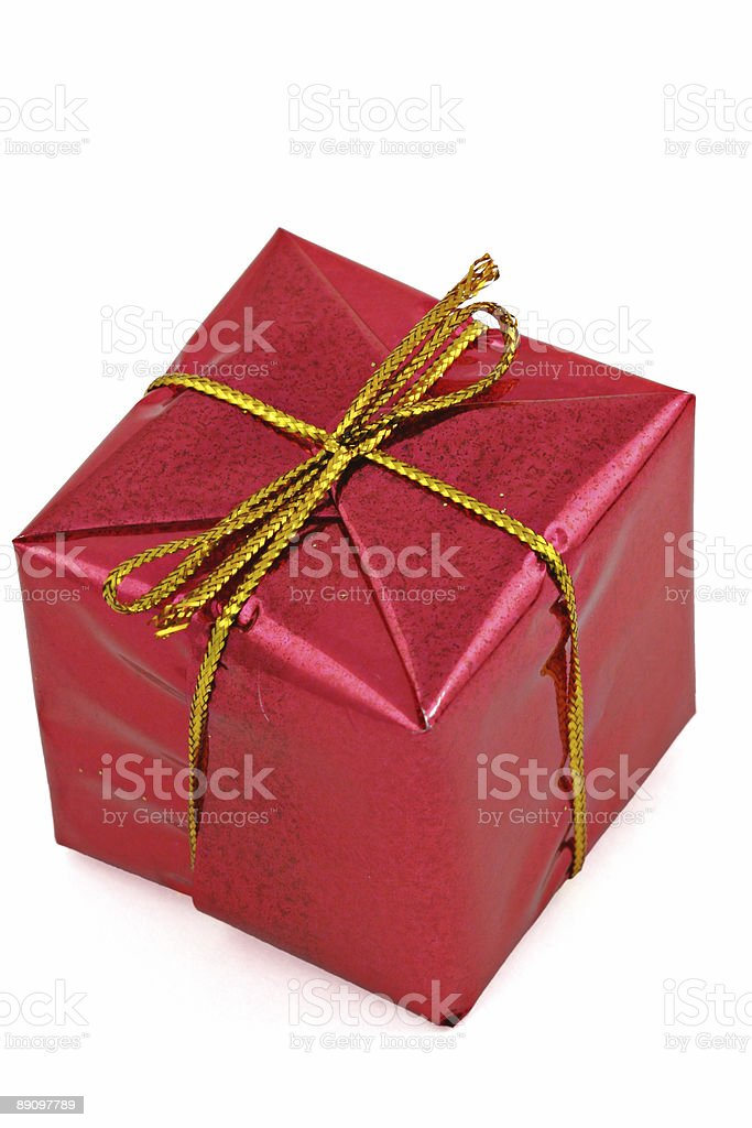 gift isolated on white royalty-free stock photo