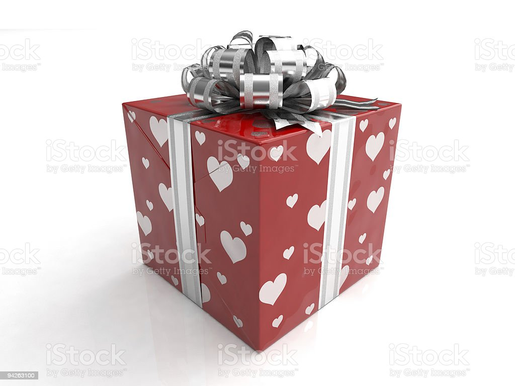 Gift Love - 3D Render royalty-free stock photo