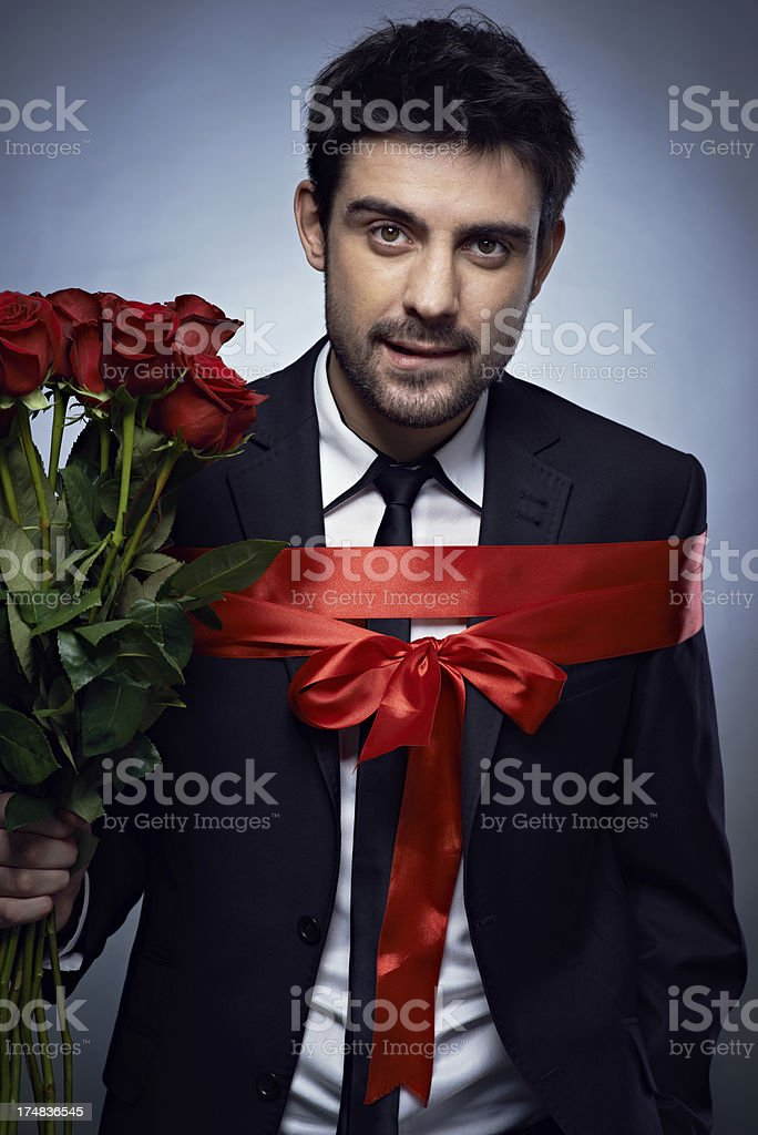 Gift of a husband royalty-free stock photo