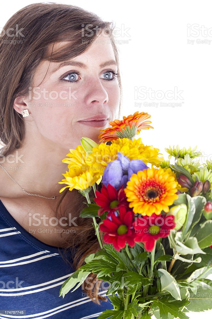 Gift Of Flowers royalty-free stock photo