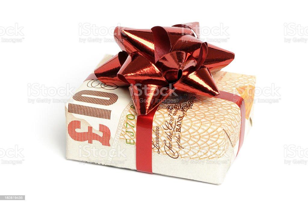 Gift of money royalty-free stock photo